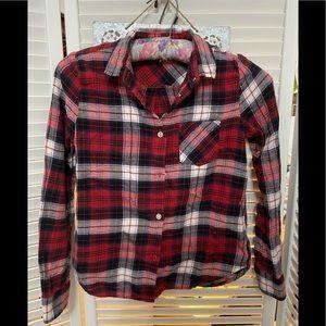 H&M flannel shirt girls 8-9